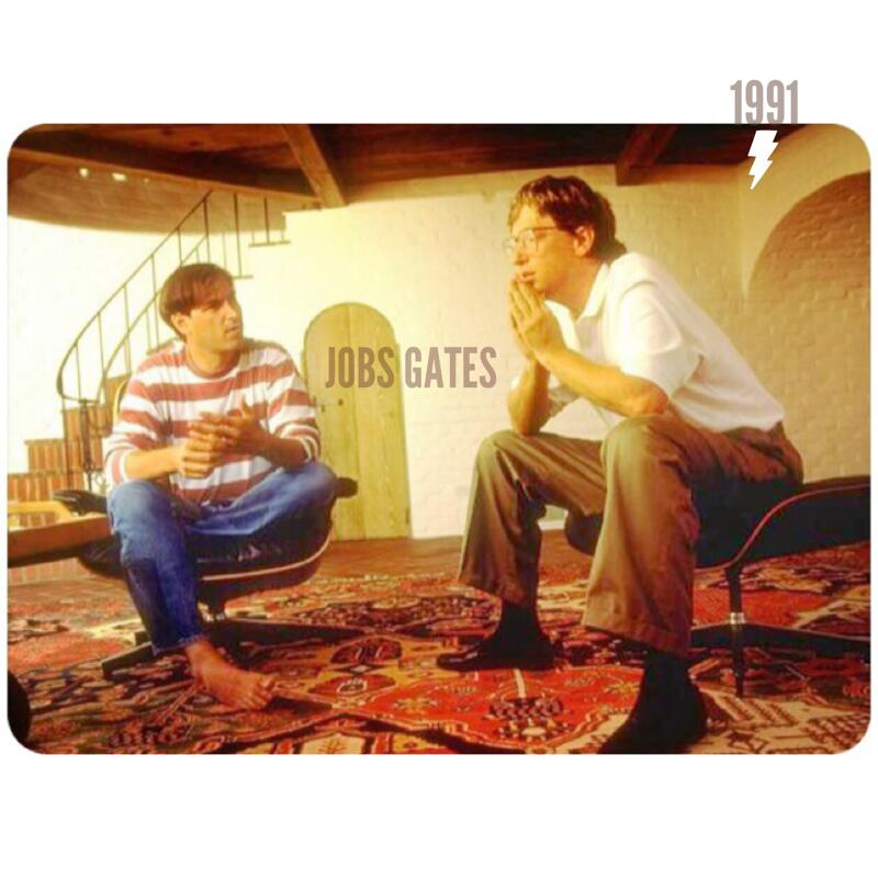 Twitter / jnxyz: Jobs, Gates, 1991: What were ...