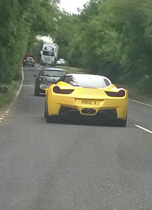 "Tom Harris on Twitter: ""Behind this Ferrari 458 yesterday ..."