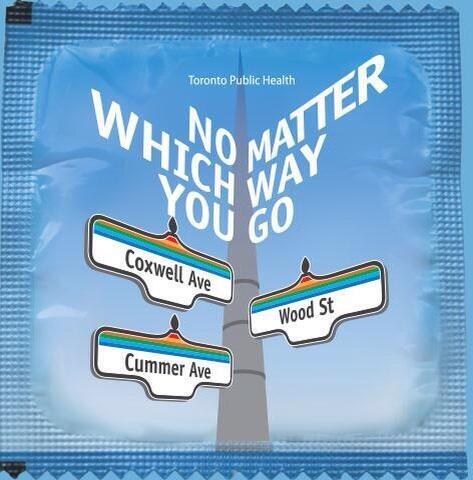 Toronto Public Health launches an official city condom. Amazing. http://t.co/d95wfijECn