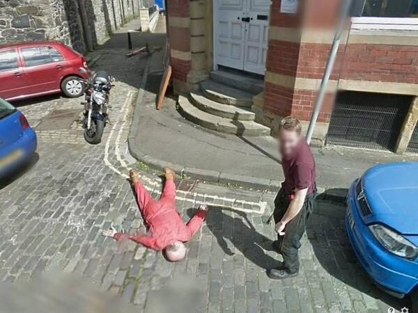 Ever seen that Google Street view car coming? These guys did & staged a MURDER! Cops investigated & no punishment http://t.co/RJt3Gpz18G