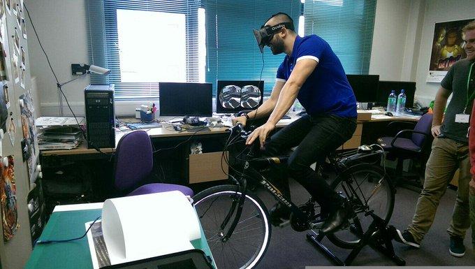 Oculus Rift Bike Sim