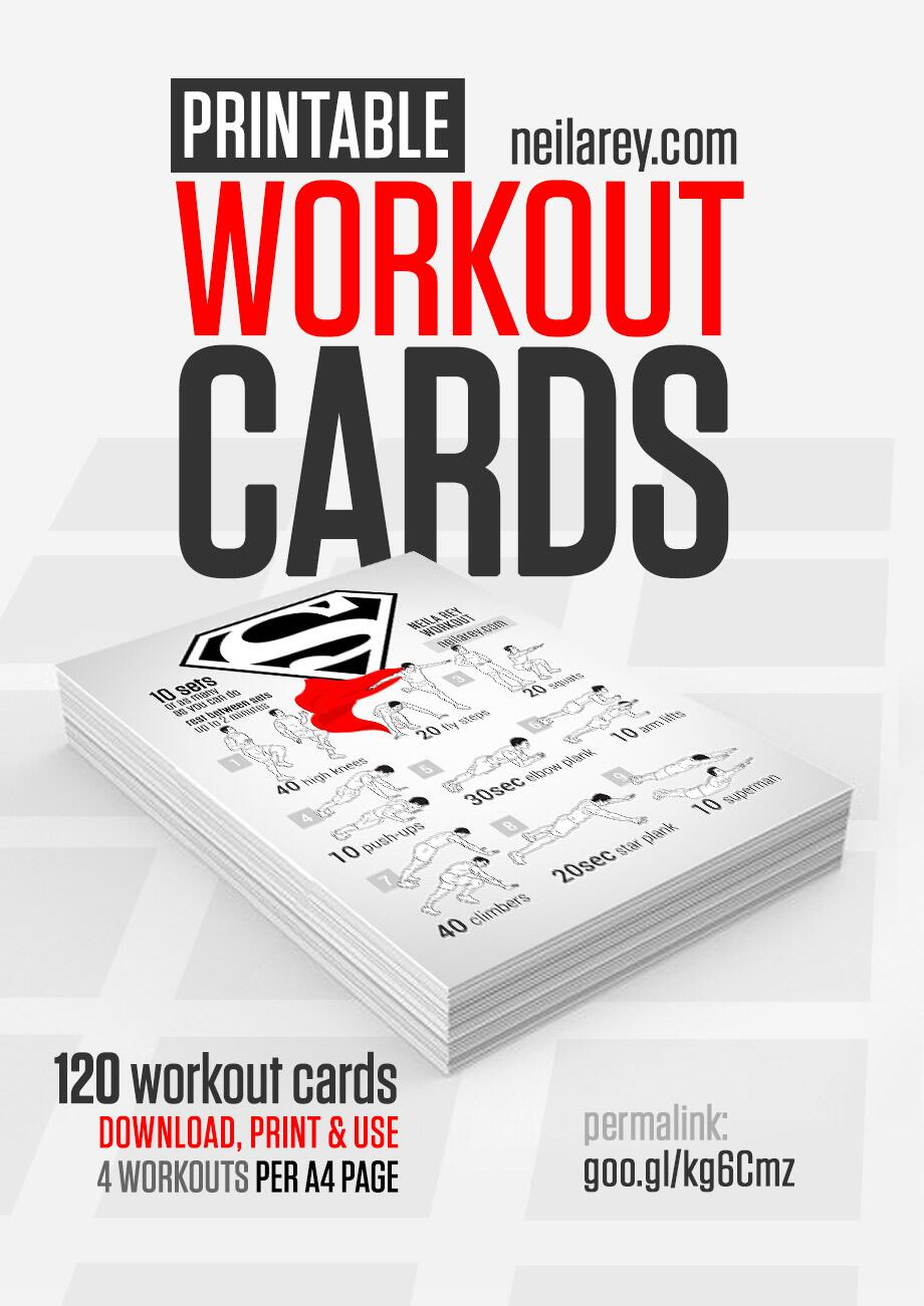 Inventive image regarding printable exercise cards