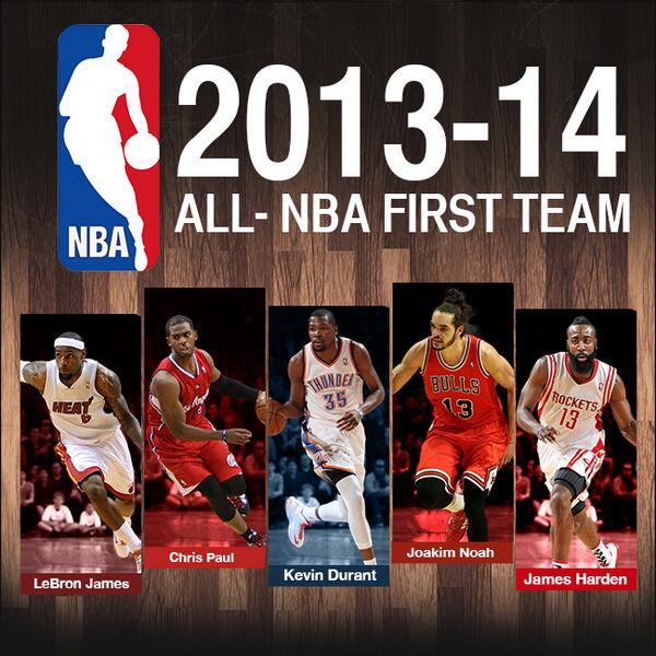 "Nba Teams: NBA On Twitter: ""2013-14 All-NBA First Team: @KingJames"