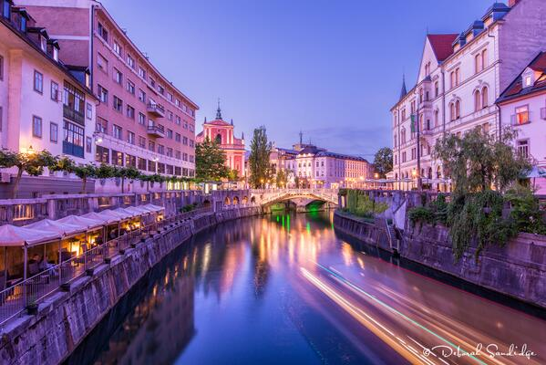 Ljubljana, the beautiful capitol of Slovenia, is a city lovely night and day, Nikon D800, 16-35mm lens, 20 sec @ f/11 http://t.co/jX2N7ObmOT