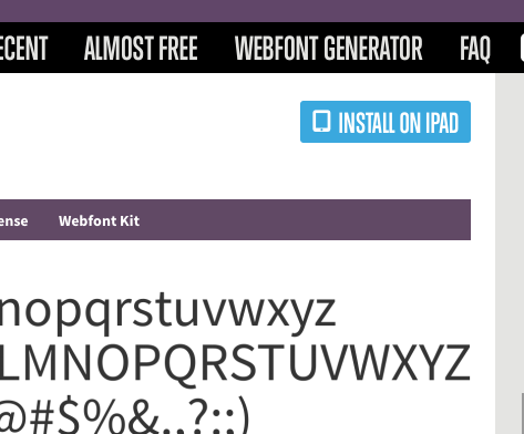 Need Font Squirrel fonts on your iPad or iPhone? Browse on your device and install. Easy peasy. http://t.co/lkSiPHhSgU
