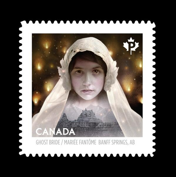 A series of postage stamps I made for Canada Post are coming out Friday the 13th. 1 of 5 haunted Canadian locations: http://t.co/BWknJ6jU88