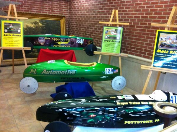These Soap Box Derby cars are among those that will race down Wilson Street hill June 21, see previous Tweet. http://t.co/40kpkpRWWh