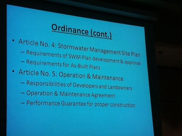 Weld says borough must adopt a stormwater ordinance which incorporates those control measures. http://t.co/IummIIVFUn