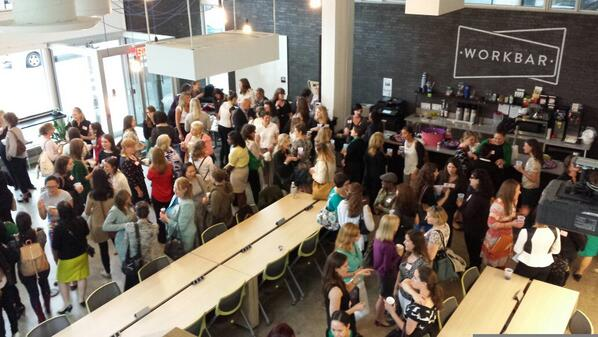 There are a lot of amazing women here at @Workbar for @WonderWomenBos! PS - Tweet if you're job hunting. #wwbos http://t.co/A0RBYcVLGM