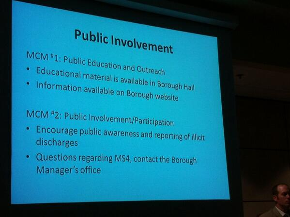"Weld says ""public involvement is crucial"" to success of program, prevent storm water pollution. http://t.co/1dt6wvyBvX"