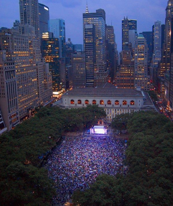 Rangers fans pack Bryant Park to watch Game 1