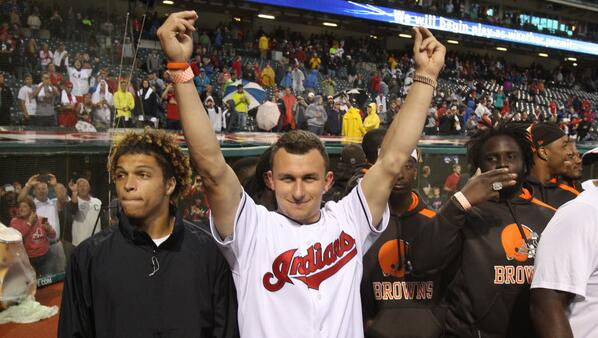 Johnny Manziel is cooler than you. #Browns #Indians http://t.co/FfUIjFFnBf