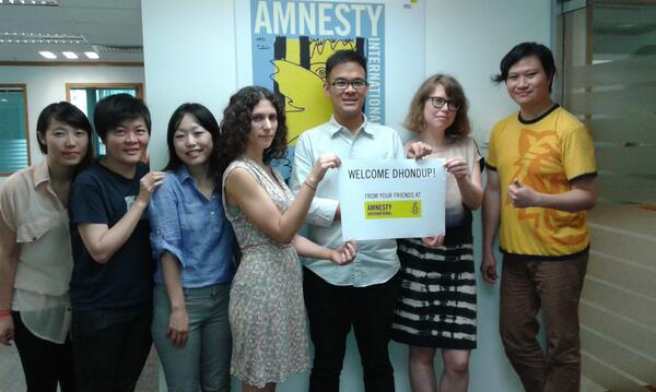 MT @amnestychina: Dhondup Wangchen has been released after six years in prison!  http://t.co/47CmXn1SuP http://t.co/q0FQMtz2oj