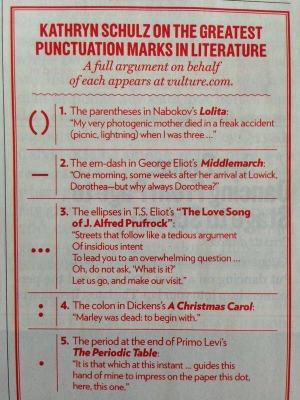 Kathryn Schulz on the greatest punctuation marks in literature: (via @RichardNSkinner) http://t.co/ngMdkv3PEe