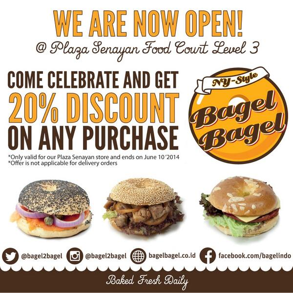 Don't miss our opening promo in Plaza Senayan level 3 food court! http://t.co/OlkIi9FaLC