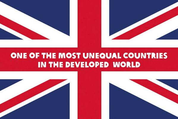 The UK is on course to take the no1 spot for most unequal country in the developed world. RT to flag this unfairness! http://t.co/TGy2e8RfL5