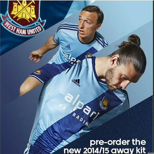 OFFICIAL: West Ham unveil their new 2014 15 away kits, looks like a Thunderbirds outfit [Pictures & Video]