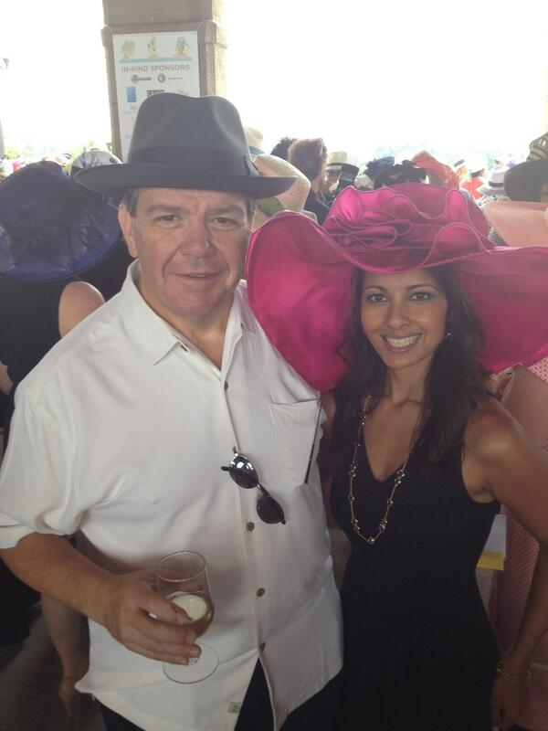 W/ Rich LoRusso (LoRusso's Cucina) at @ForestPark4Ever Hat Luncheon.1 of the few moments my hat didn't mask my face. http://t.co/msPayUeTFf