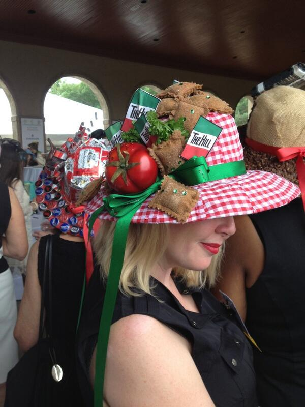 Toasted Rav on a hat, can't go wrong. 2014 Leffingwell Hat Luncheon. @ForestPark4Ever http://t.co/nIQtU00usA