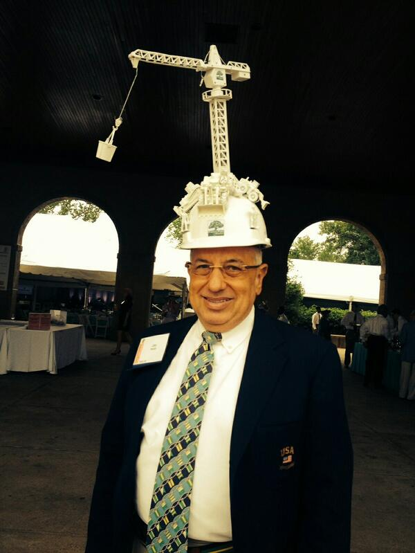 Jay Reiter, a childhood neighbor. His hat represents 250 years of construction in Missouri. @ForestPark4Ever http://t.co/mhpFFZzHIT
