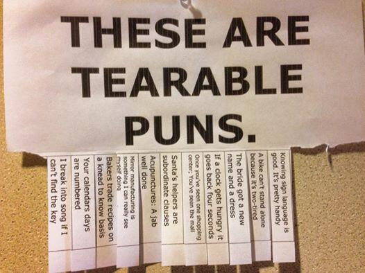 Tearable, just tearable. Thanks @LouHeldman at @WichitaState! #puns http://t.co/18AEEV5RTs