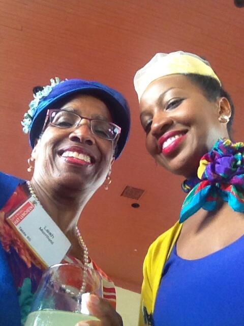 @Makibaj joining me at the fun hat luncheon. #selfiefun @Rae_LaReine is missed! http://t.co/sGFW1ffFuG