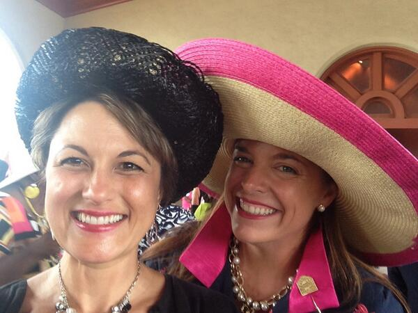 @BTHECOLLECTION1 and me @ForestPark4Ever Hat Luncheon! http://t.co/nuuotsInvx