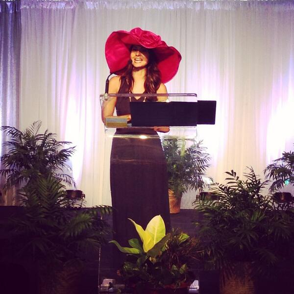 So great to have @jhuda again leading today's Hat Luncheon! #hatsoff4forestpark http://t.co/cRRRnlOLSo