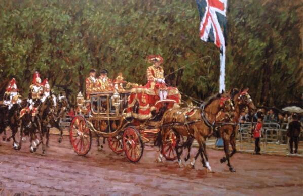 """W O W!!!!! """"@tonykarpinski: ' Royal Coach ' oil painting London , State Opening of Parliament http://t.co/jYzI8MsokS"""""""