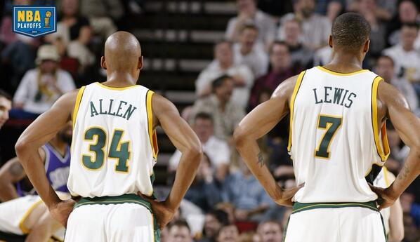 #RayAllen #RashardLewis for the #SeattleSuperSonics circa 2005 #throwbackthursday @Sonicsgate @NBA miss this or nah? http://t.co/KT2urOop6T