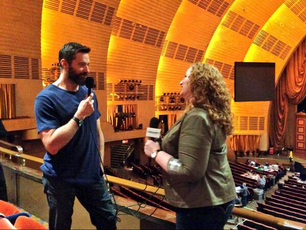 Just chatting with @RealHughJackman @RadioCity about hosting the #TonyAwards. He's been practicing since Feb! http://t.co/CE96NeySo7