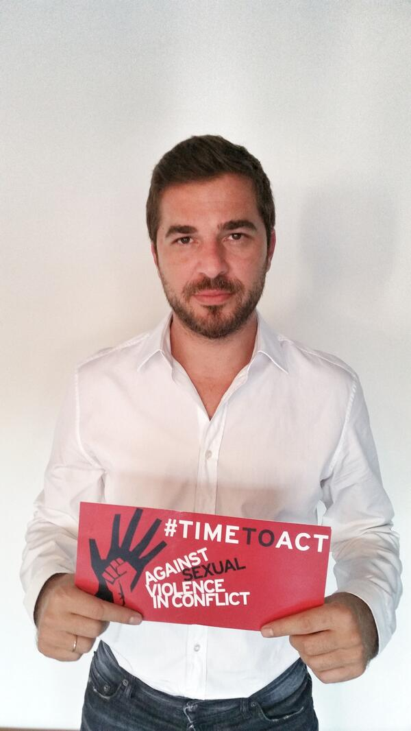 Sexual violence is a weapon of war. Turkish celebrity @eadksk thinks it is #timetoact to end impunity. #PSVI http://t.co/ln8pIAT8jk