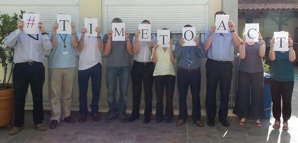 British Embassy #Athens staff voicing support for ending sexual violence in conflict #TimeToAct @end_svc http://t.co/0sEISRYHYf