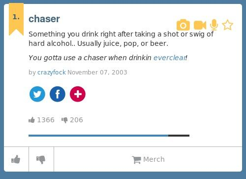 Chaser urban dictionary
