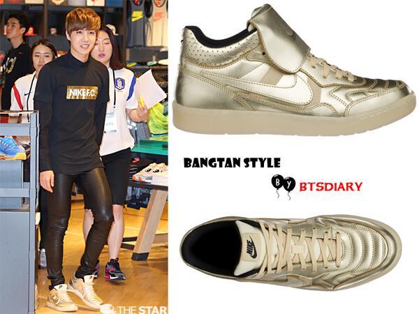 sports shoes 49fc5 8df6b [Bangtan Style](140612) J-Hope at Nike Gangnam Nike NSW Tiempo '94 Mid HP  QS Sand Dune 159,000 won /$157pic.twitter.com/a876TQdqhp