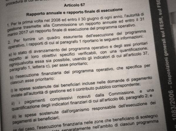Ora il RAE - Rapporto Annuale di Esecuzione ... #comitato2014  Che cos'è? Vai all'art. 67 http://t.co/ji3CyDADZk http://t.co/jOkjh5GV0K