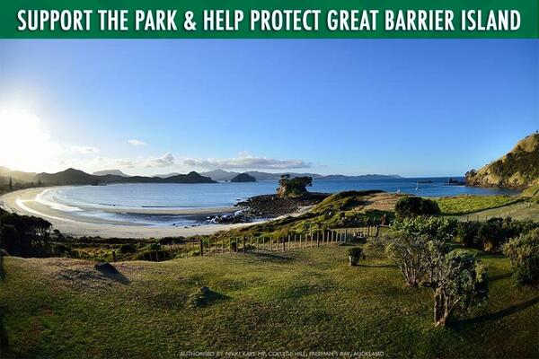 I have proposed a new conservation park covering 60% of Great Barrier Island.RETWEET &show your support for the park! http://t.co/vtjIhh5cmd