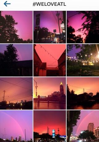 Purple & pink skies over Atlanta on Instagram with the #WeLoveATL hashtag http://t.co/XJlQ2F8uvy