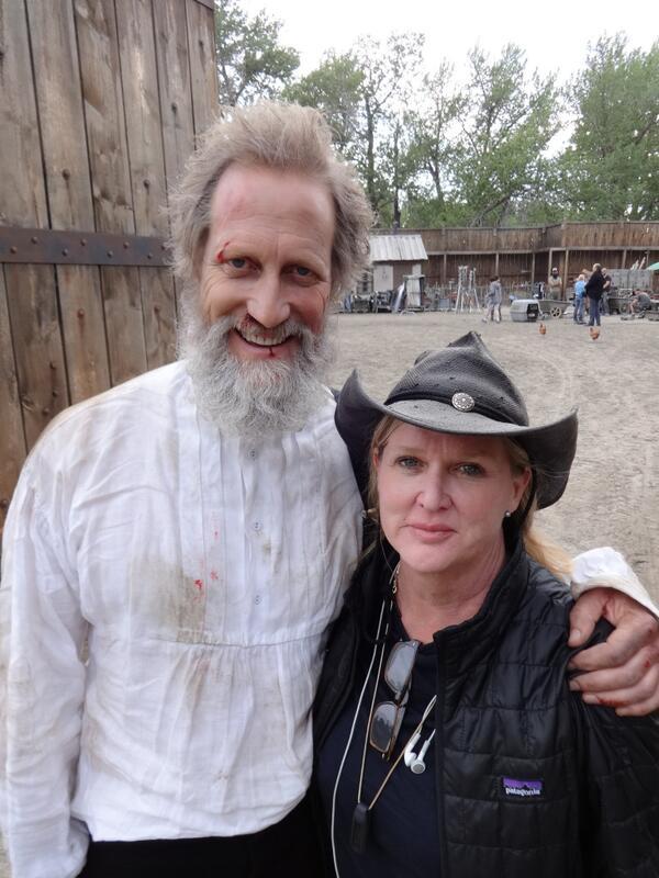 """@WirthwhileTV: Director Dennie Gordon and the inimitable Chris H! @HellOnWheelsAMC http://t.co/EGFIPJGVVN"" never pick a fight w/Dennie G!"