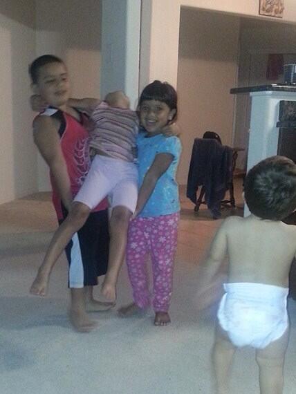 Kids #LeBroning http://t.co/cDKUvc5vPy