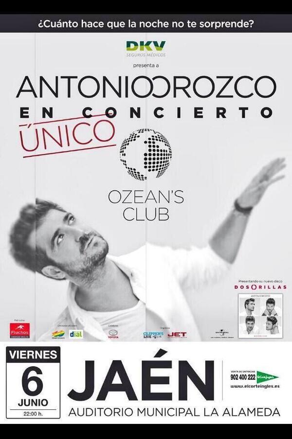 Preparad@s?  HOY  @antoniorozco   22 H Auditorio La Alameda JAÉN http://t.co/geChrwzT55