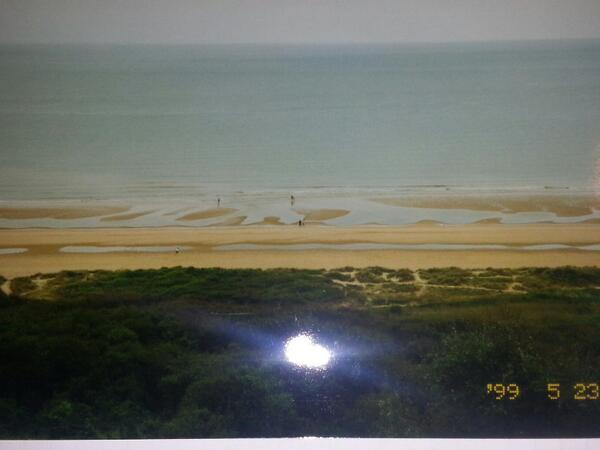 @tsnmike Omaha Beach from a German Defense Embankment. (Pardon the flash) http://t.co/sRwsclgyNh