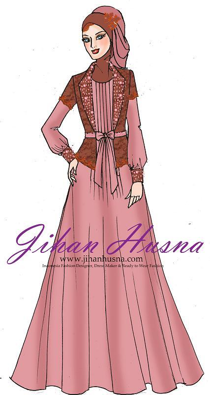 Jihan Husna On Twitter Sketsa Desain Busana Pesta Dress Lipit