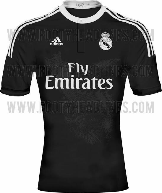 Leaked! Real Madrids new black third kit featuring a dragon on the front [Picture]