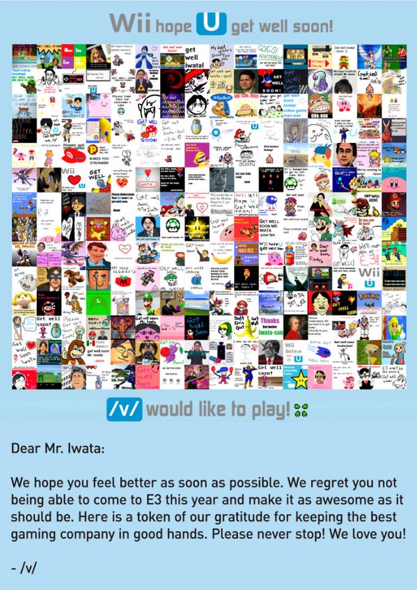 /v/ Satoru Iwata get well card 4chan