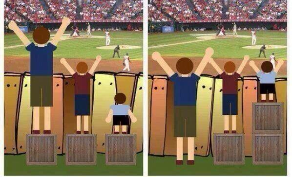 How people think equality works, versus how equality actually works. :)SS #edtech #diversity #inclusion http://t.co/8NoTCJrKZD