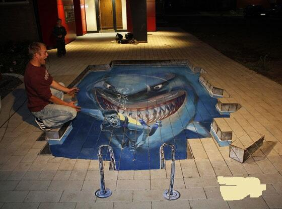 Amazing Drawings On Twitter Whale 3d Art Illusion On A