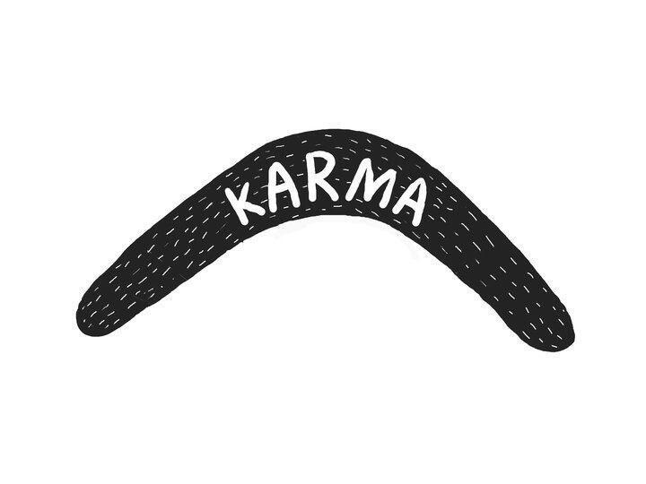 Twitter / JoyAndLife: Karma is a boomerang.. ...