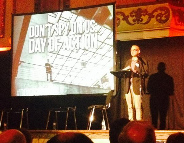 we are hustling our way into full Orwell says @doctorow #DontSpyOnUs http://t.co/vcITsBsfOF