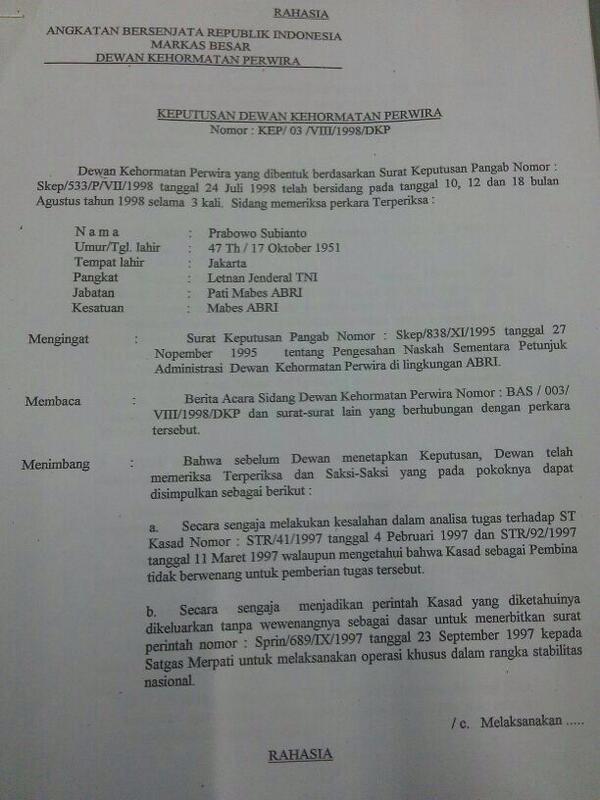 Dokumen Keputusan DKP pecat Prahara 1/4 http://t.co/THZL6IlpBQ